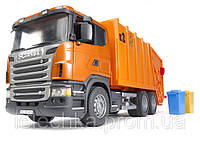 Bruder Мусоровоз Scania R-R-series, оранжевый 1:16, фото 1