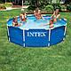 Круглый каркасный бассейн Metal Frame Pool Intex 28200 (305-76 см.)