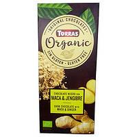 Шоколад Torras Organic Dark with Maca & Ginger, 100 г