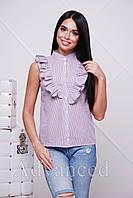 Рубашка мелкая полоска