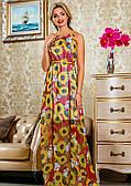Шифонова довге плаття з квітами
