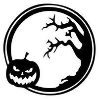 Виниловая наклейка - Тыква и дерево