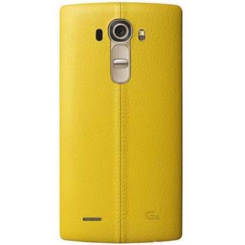 LG G4 Задня частина корпусу (кришка акумулятора) Leather Yellow