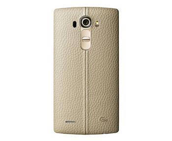 LG G4 Задня частина корпусу (кришка акумулятора) Leather Beige