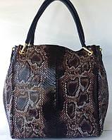"""Женская сумка из натуральной кожи с расцветкой """"Питон"""""""