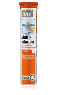 Шипучі вітаміни Omni Vit Multivitamin зі смаком апельсина, 88 гр.