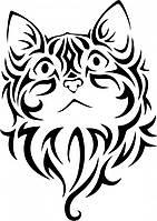 Виниловая наклейка- кот с узора 2