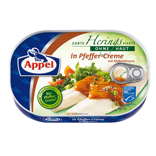 Филе сельди Appel Hering Filets In Pfeffer Cream 200 гр.