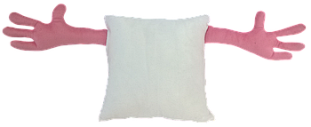 Подушка для объятий, квадрат, под сублимацию, РОЗОВЫЙ