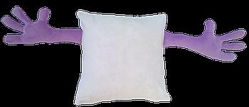 Подушка для объятий, квадрат, под сублимацию, ФИОЛЕТОВЫЙ