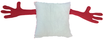 Подушка для объятий, квадрат, под сублимацию, КРАСНЫЙ