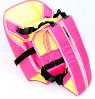 Рюкзак-кенгуру №7 сидя, цвет малиновый. Предназначен для детей с трехмесячного возраста