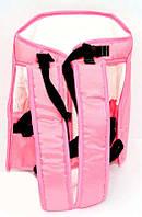 Рюкзак-кенгуру №7 сидя, цвет розовый. Предназначен для детей с трехмесячного возраста