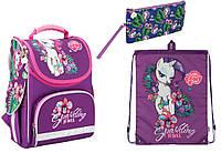 """Комплект школьный. Рюкзак """"My Little Pony"""" LP17-501S-1, Пенал и Сумка, ТМ  KITE"""