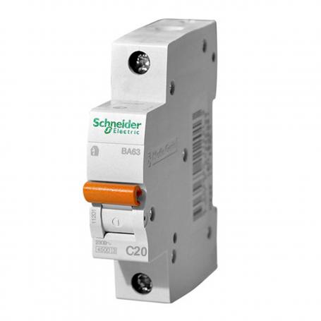 Выключатель автоматический Schneider Electric 20A BA63 однополюсный
