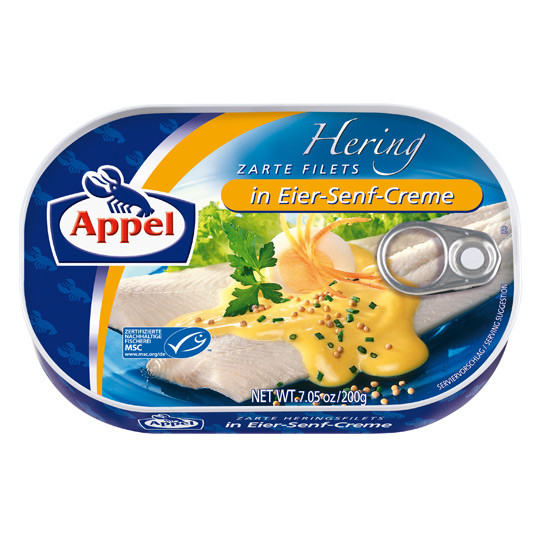 Филе сельди Appel Herring Filets In Eier Senf Creme 200 гр.