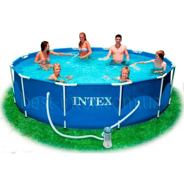intex 28218 366 98 metal frame pool. Black Bedroom Furniture Sets. Home Design Ideas
