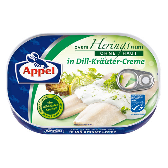 Филе сельди Appel Herring Filets in Dill Cream Sauce 200 гр.