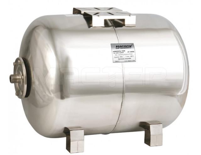 Бытовой гидроаккумулятор «Насосы + Оборудование» HT 100SS (нержавеющий бак 100 л)