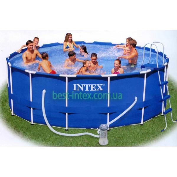 Каркасный бассейн Metal Frame Pool Intex 28232 (457х91 см.)