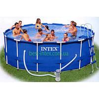 Каркасный бассейн Metal Frame Pool Intex 28232 (457х91 см.), фото 1