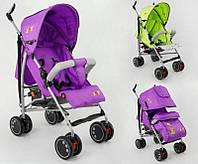 Коляска прогулочная JOY Q 2005 2 цвета в ящике /фиолетовый+салатовый/ широкий козырек, футкавер, d колес - 15с