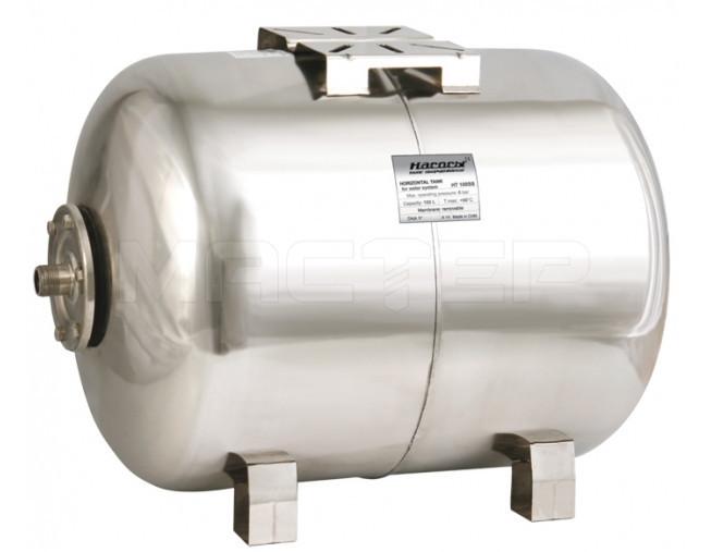Гидроаккумулятор «Насосы Плюс оборудование» HT 100SS (нержавеющий бак 100 л)