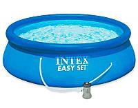 Intex Бассейн 28142 /с насосом 220-240 В/, размером 396х84см, объем: 7290 л. при заполнении 80%, вес: 17,7 кг, бассейн семейный