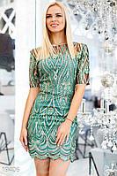 Вечернее платье с вышивкой S L