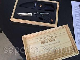 Нож с двумя клинками Ganzo (черный, оранжевый) G802-BK, фото 3