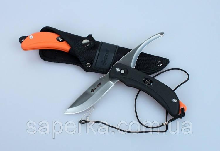 Нож с двумя клинками Ganzo (черный, оранжевый) G802-BK
