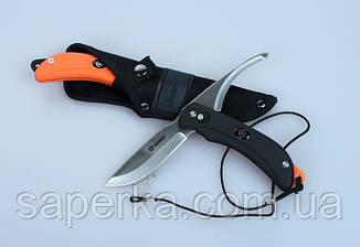 Нож с двумя клинками Ganzo (черный, оранжевый) G802-BK, фото 2