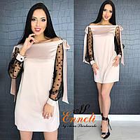 Женское стильное платье из шелка (3 цвета)