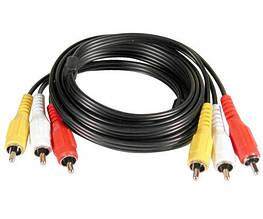 Аудио-кабель 3RCA 5 м
