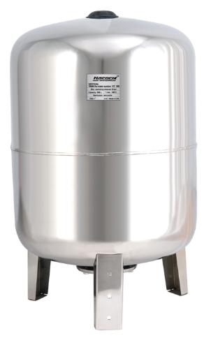 Ресивер для воды «Насосы + Оборудование» VT 100SS (гидроаккумулятор 100 литров нержавеющий)