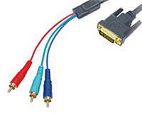 Видео кабель DVI-3RCA, 1.5 м