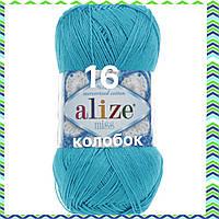 Пряжа для ручного вязания Alize miss -(Ализе мисс) 16  Голубой Сочи
