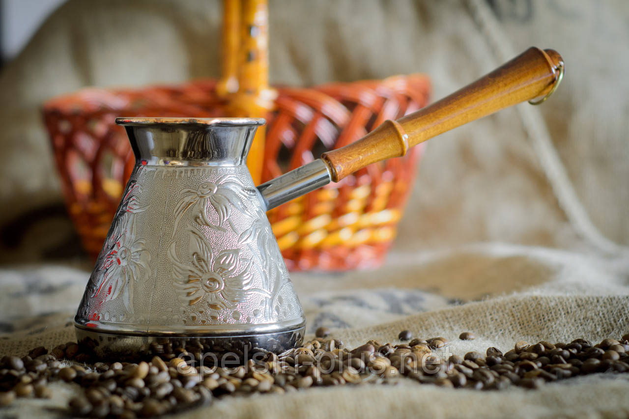 """Медная турка 600 мл """"Орнамент"""" для кофе"""