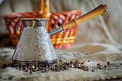"""Медная турка 850 мл """"Орнамент"""" для кофе"""