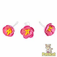 Розовые бумажные цветы яблони из бумаги 25 мм 5 шт/уп
