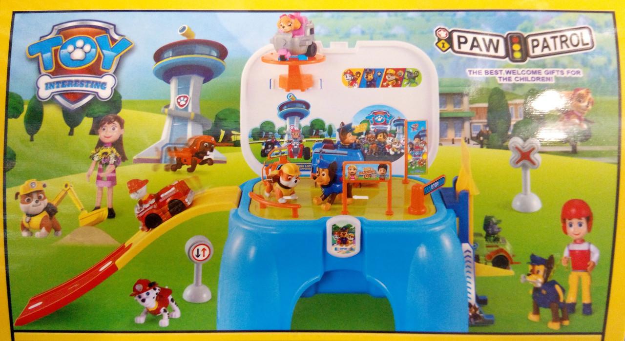 Детская парковка стульчик Щенячий патруль XZ- 861, игровой набор
