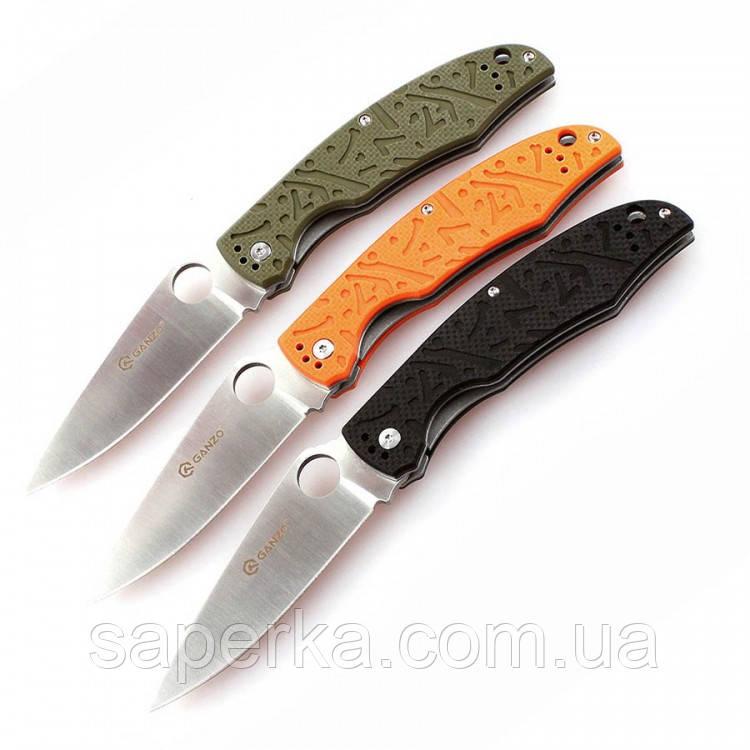 Ніж універсальний Ganzo (чорний, зелений, оранжевий) G7321-BK