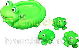 "Набор игрушек в ванночку 4 шт ""Лягушка и лягушата"""