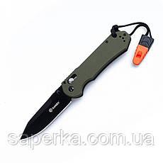 Нож туристический Ganzo (черный, зеленый, оранжевый) G7453-BK-WS, фото 2