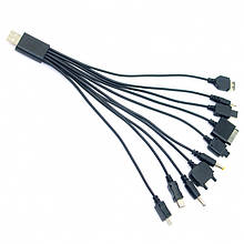 Универсальный USB кабель Универсальный USB кабель для зарядки телефонов 10 in 1