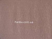 Креп бумага светло каштановая(новая коллекция)№ 17  Е/1