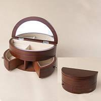 Деревянная Шкатулка для ювелирных украшений. Размеры 21х11х11 см