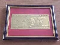 Денежная картина с банкнотой 100$ долларов