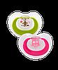 Детская пустышка Brother Max, 2 ед. в наборе, розовый/зеленый  (49812)