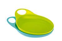 Неглубокая тарелка Brother Max для кормления,  голубой/зеленый, 2ед. (71374BG2)